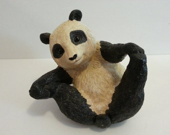 1993 Portrait of Innocence by Martha Carey - Panda Sculpture