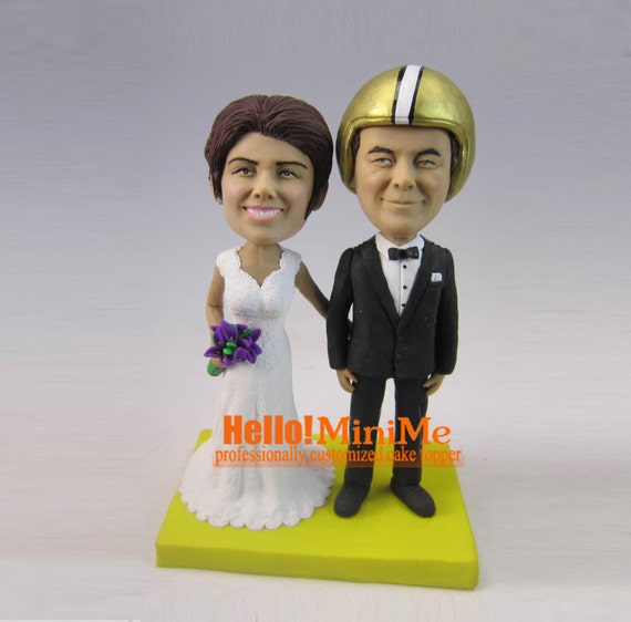 bobblehead wedding cake topper wedding cake topper bobblehead custom cake topper wedding 1994