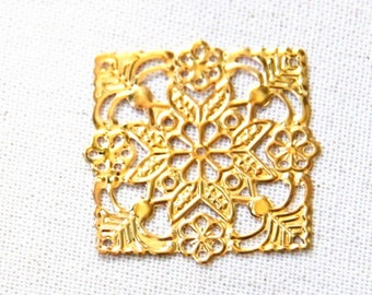 24 pcs of iron filigree 36mm-1626-gold
