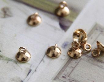 24 pcs of brass bottle cap 5mm- 4921-18k gold