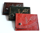 CUSTOM Mini Willow Wallet with Flower Design - Design Your Own - Choose Your Colors