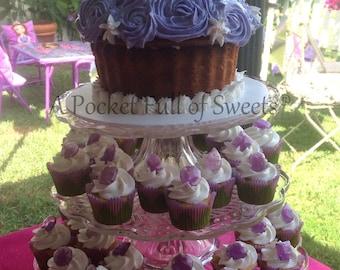 125 Edible Sugar Gems Jewels Barley Sugar Bite Sized Hard Candy Cake Cookie Decor Cupcake Jewels
