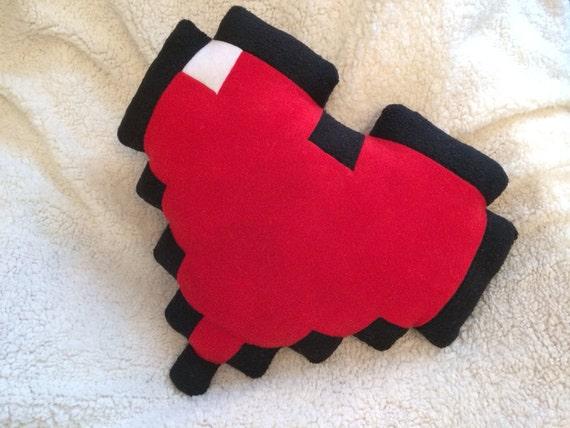 8 Bit heart plush pillow