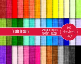 75% OFF Sale - 42 Digital Papers - Fabric Texture - Instant Download - JPG 12x12 (DP129)