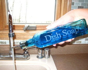 Etched Dish Soap Dispenser