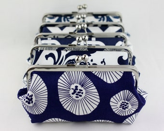 Navy Bridesmaid Clutches / Wedding Clutches / Clutch for Bridesmaid / Wedding Clutch Set - Set of 4