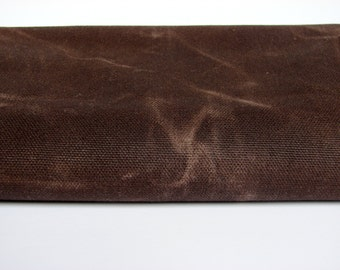 Waxed Cotton Canvas Fabric - Chocolate Brown 10oz. 60 Inches wide by the yard