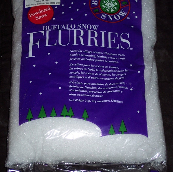 Extra fine artificial snow flakespowdered snowbuffalo