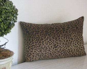 Leopard Print Designer Lumbar Pillow Cover
