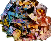 Batik Ribbons 10+ yd Spinning Add-ins/Jewelry Making