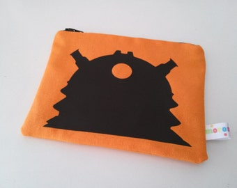 Doctor Who Dalek  Zipper bag / Pencil Case / Make Up Bag / Gadget Pouch/Sack/ 15x11cm 6x4.3 inches