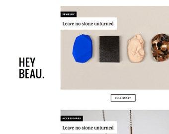 Blogger template 'Hey Beau'