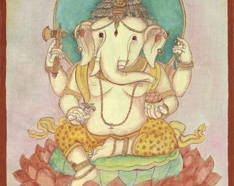 Ganesh, Remover of Obstacles, Elephant Headed god, Hindu Deity, Ganesha Buddhist Deity art