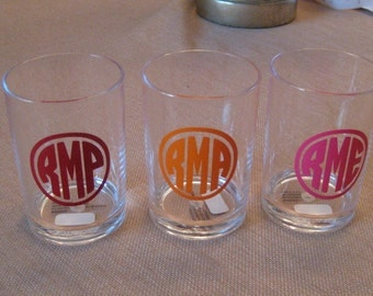 Monogrammed Acrylic Cup great for the bathroom