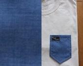 Moosey Blue Paige's Pocket Tee Shirt