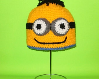 Two Eyed Monster Beanie Hat. (Any Sizes: Newborn to Adult). Please send the size.