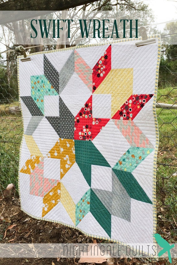 Items Similar To Simple And Easy Modern Throw Quilt Pdf