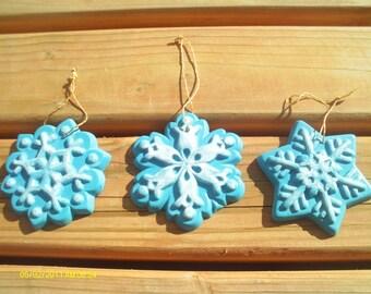 Snowflake Ornaments - Set of 3
