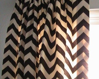 Brown chevron curtains