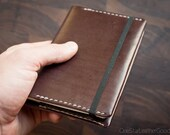 "3.5"" x 5.5"" hardcover notebook & leather cover - brown"