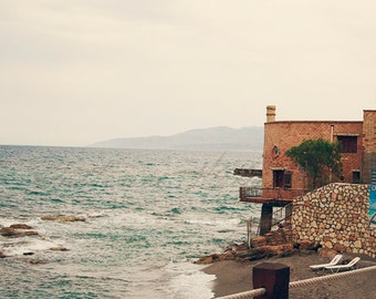 Stormy Seas - Photographic print - Greek, food, travel, wanderlust, Greece, Crete, Photography, Europe, European, 12 x 12, 16 x 16, 20 x 20
