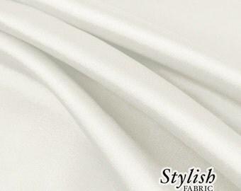 "60"" Ivory Charmeuse Satin Fabric by the Yard, Charmeuse Fabrics, Charmeuse Satin Fabrics, Bridal Wedding Satin Fabric  - 1 Yard Style 2800"