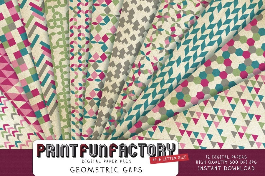 Geo Digital Paper Print Fun Factory