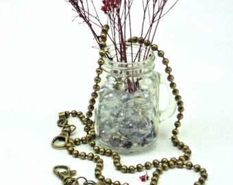 """48"""" Antique Brass Metal Bead Purse Chain, Jewelry, Long Detachable Shoulder Strap, Bag Hardware  @ MeiMei Supplies  Ready to Ship from USA"""