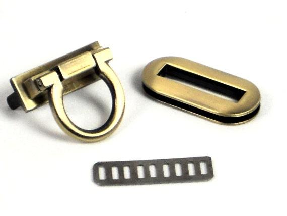 Antique Brass Turnlock Purse Closure Flip Lock Bag