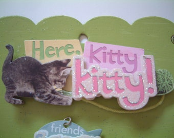 """Kitty Wall Plaque - 8"""" x 8"""" - For Cat Lover's Everywhere"""