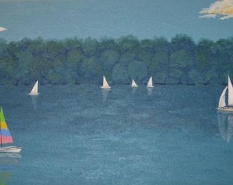 Sailboats on Lake Nockamixon
