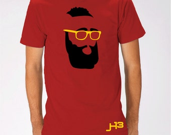 YOUTH Fear The Beard Houston James  red T Shirt Rockets