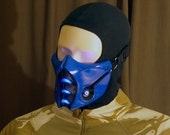 Mortal Kombat Sub-Zero Mask v.2 (MK9) with LED Airsoft Cosplay DJ Rave mask - Made to order -