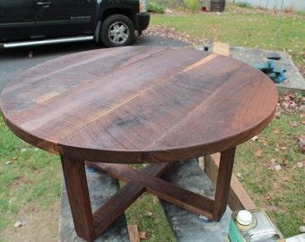 Rough Sawn Black Walnut Coffee Table