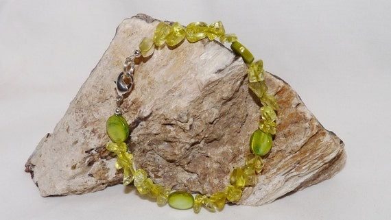 Peridot Gemstone Bracelet from Tillies Treasure