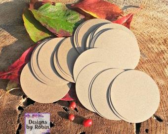 50 Kraft 2.5 inch  65lb Circle Gift Tags
