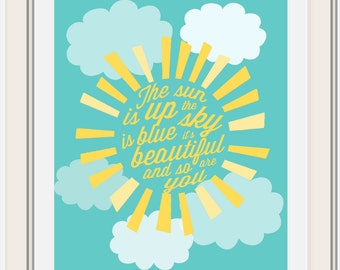 The Sun is Up, Beatles Lyric Printable