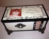 Stained glass bridal wedding parent's memory gift box