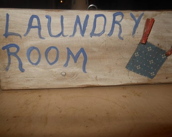 Laundry Room  Clothesline Sign