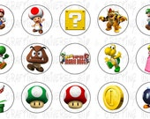 New Super Mario Brothers Bottle Cap Images - #17
