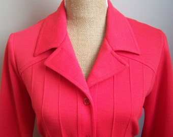 D'Allaird's 1970s Red Dress. Womens Red Dress.Long Sleeves Dress. Made in Canada. Union Made Dress.