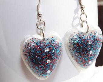 Handmade resin earring . Free USA shipping!