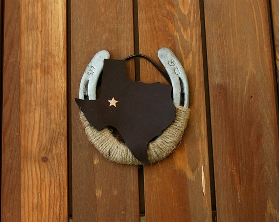 Your state theme decorated horseshoe horse shoe by for How to decorate horseshoes
