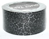 Rue 21 Brand  Girly Girl Stars Silver Black Background  Pattern Patterned Print Printed Duct Duck Tape Discontinued Rare Hard To Find