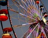 Ferris Wheel in Color South Carolina State Fair, Aiken SC