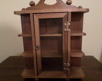 Mini Wood Curio Cabinet / Trinket Box