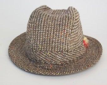 1960's Handwoven Donegal Tweed Hat