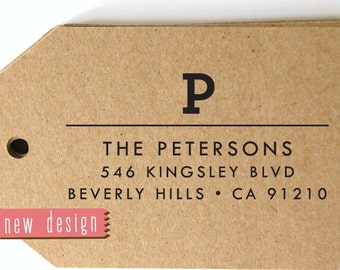 CUSTOM ADDRESS STAMP, personalized pre inked address stamp, pre inked custom address stamp, return address stamp with proof - Monogram d5-32