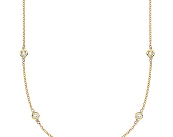 Endless Yellow Gold & Diamond Necklace