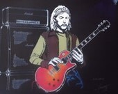"Duane Allman of the Allman Brothers in Art is a Limited Edition, numbered Print of the Original Painting by Artist: Charles Freeman 10""x13"""